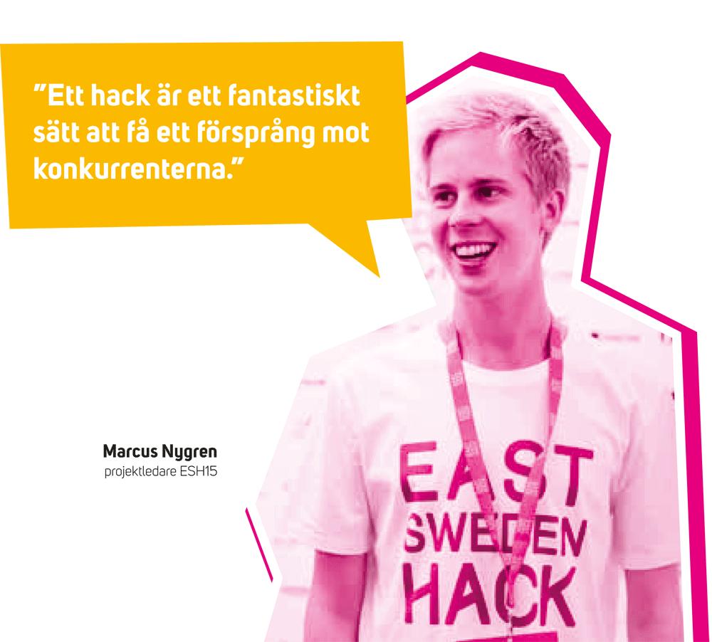 Marcus Nygren, projektledare för East Sweden Hack